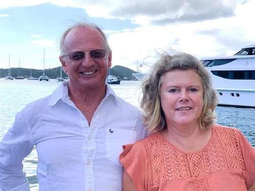 Bertie and Teresa, crew members for Entheos catamaran
