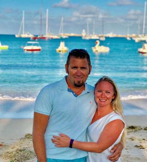 Jake and Stephanie, crew members for Dreamcatcher catamaran