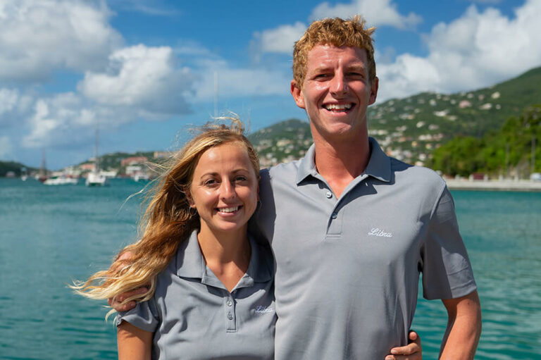 Chris and Lida, crew members for Libra yacht