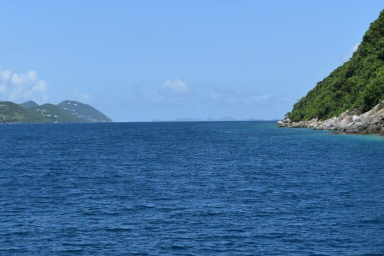 The blue waters of the US Virgin Islands