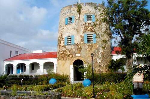 Exterior of Bluebeard's Castle in St. Thomas, USVI