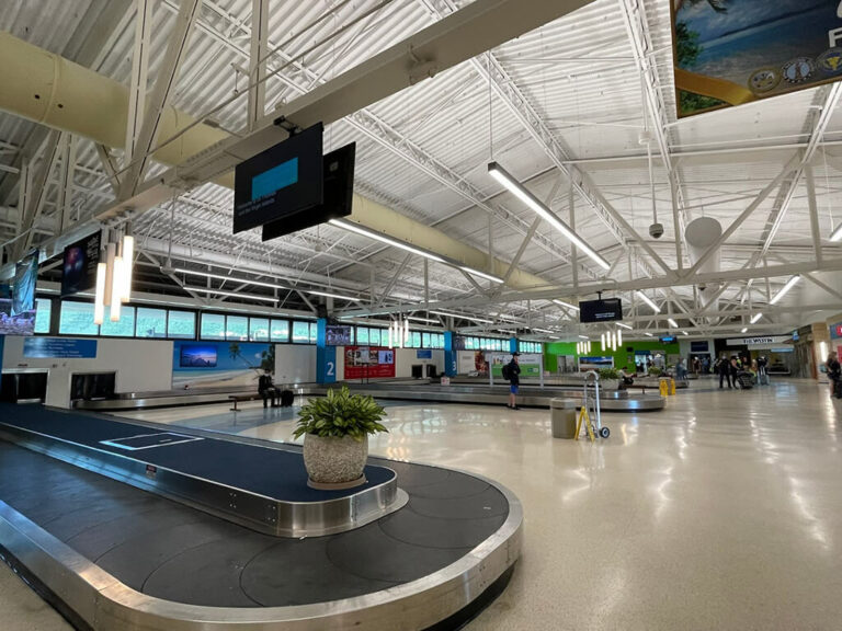 Interior of the Cyril E. King Airport in St. Thomas, USVI