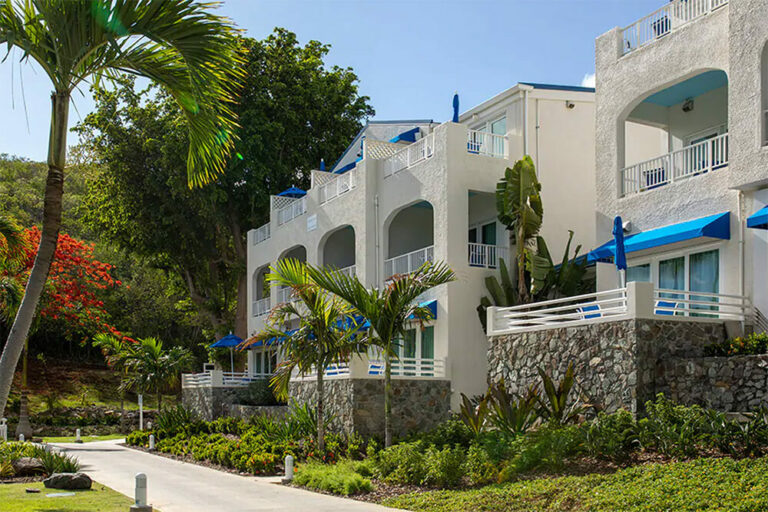 Exterior of Lime Tree Bay Resort in St. Thomas, USVI