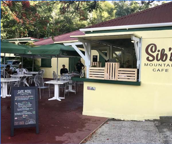Sib's on the Mountain, a cafe in St. Thomas, USVI