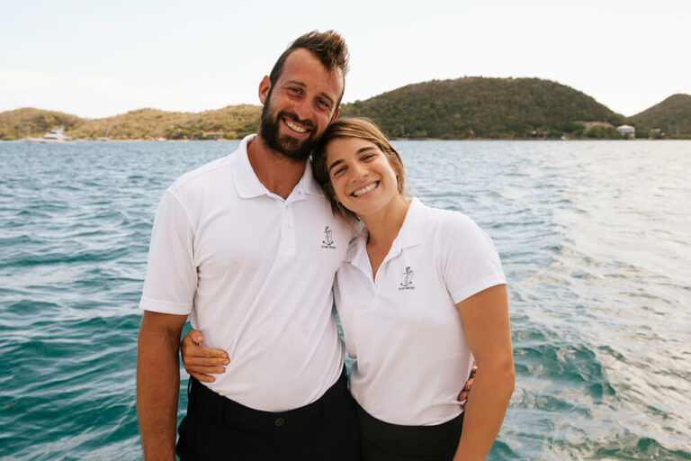 Captain Chino and First Mate Noa, crew members of True Story Yacht